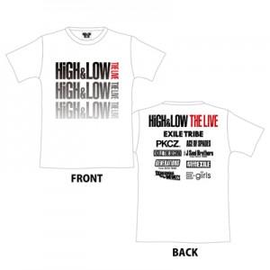 HiGH&LOW グラデーションツアーTシャツ
